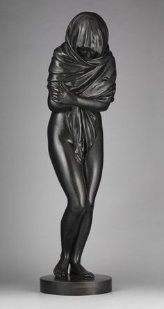 La Frileuse / Winter, 1787 bronze  by Jean Antoine Houdon
