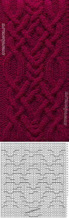 369 braid pattern width 28 loops | catalog knitting patterns: