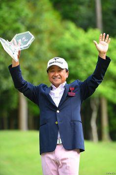 PGA会長として優勝インタビューを受けるのが夢だった倉本昌弘 ザ・レジェンド・チャリティプロアマトーナメント(2014)(最終日) 写真・佐々木啓