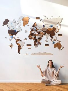 Brown Safari: 3D World Wooden Map by GaDenMap. Wood World Map is a unique wall décor idea for your home! World Travel Map, Push Pin Map, Travel Map with Pins. Wood World Map can be used as a travel map. Pin board for your loft decor ideas, business development places, travel destination and just random notes of happiness. Large wall art decor and a place for inspiration! #mapdecor #babyroomdecor #homedecorating