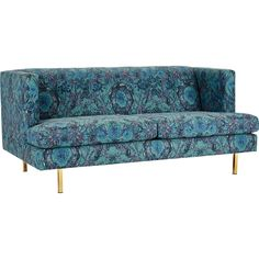 Shop avec apartment sofa with brass legs.   British fashion designer Matthew Williamson reimagined his iconic jungle print, Mother Amazon, just for us.