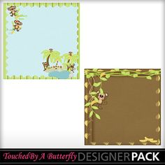 Monkey See Monkey Do stacked papers set 2