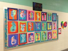 Panther's Palette: 2nd Grade: Picasso Portraits