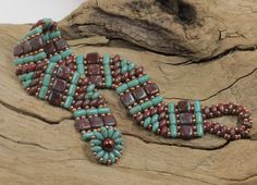 SUPERDUO, CZECHMATE TILE, Rulla Bracelet - Two Hole Beads - Picasso Super Duos - Picasso Tiles - Picasso Rullas - Czech Two Hole Beads by CinfulBeadCreations on Etsy