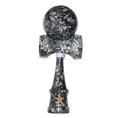Full Marble Black Shinny Super Kendama, Super Sticky, Japanese Wooden Toy, Free String, USA Seller