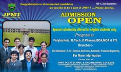 JPMT Polytechnic & Engineering College, Azamgarh. Best Polytechnic college in azamgarh, Top Polytechnic college in azamgarh