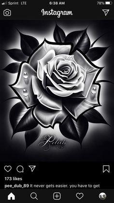 Skull Rose Tattoos, Dot Tattoos, Black Rose Tattoos, Clock Tattoo Design, Sketch Tattoo Design, Diamond Tattoo Designs, Flower Tattoo Designs, Black Tattoo Cover Up, Cover Up Tattoos