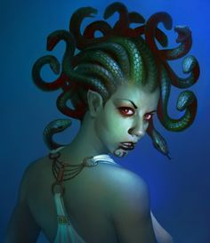 Fantasy Art: Medusa's Beauty - 2D Digital, Digital paintings, Fantasy, PortraitCoolvibe – Digital Art