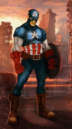 Captain America by Nathan Ackerman