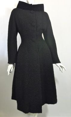 1950s coat lilli ann vintage wool boucle