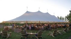 Outdoor Tented Wedding Reception // Sperry Tents Southeast // Skyline Tent Company