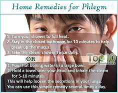 10 Phlegm Home Remedies - Phlegm often accompanies colds and other upper respiratory infections. While not a serious health problem, if phlegm is not treated timely, it can clog and irritate the bronchial tubes and in turn cause a secondary upper respiratory infection.