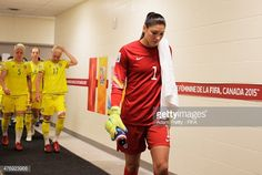 Hope Solo of United States of America walks back to the pitch after half time during the Group D match between United States of America and Sweden of the FIFA Women's World Cup 2015 at Winnipeg Stadium on June 12, 2015 in Winnipeg, Canada.