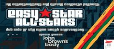 Enter to Win tickets, Autographed CDs, meet a special star from the Show at the Easy Star's Dub Side of the Moon 10th Anniversary Tour w/ John Brown's Body show Opera House on Saturday, April 5, 2014. http://ow.ly/uCtbA