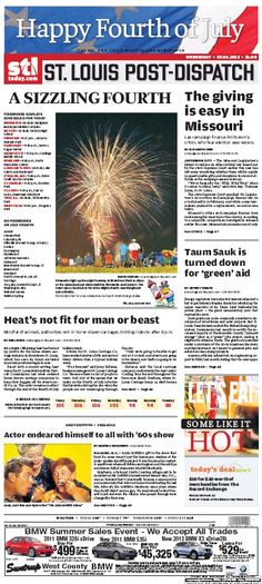 St. Louis Post-Dispatch July 4, 2012  #STL #newspapers