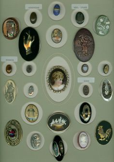 Stunning Vintage Oval Shaped Buttons