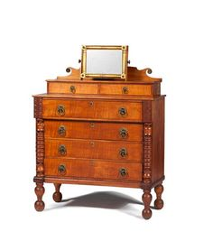 Sheraton Tiger Maple Chest of Drawers - Price Estimate: $800 - $1200