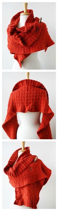 Rococo Shawl by Elena Rosenberg, hand-knit in merino wool, alpaca & silk. http://www.elenarosenberg.com