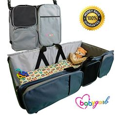 3 In 1 Diaper Bag Travel Bassinet Change Station By Babygarb With Ez Beds Foldngo