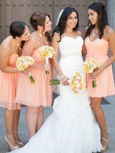 Sweetheart Chiffon Short/Mini Ruffles Graceful Bridesmaid Dresses - dressesofgirl.com