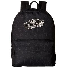 Vans Realm Backpack (Star Dot Black) Backpack Bags ($35) ❤ liked on Polyvore featuring bags, backpacks, vans backpack, rucksack bag, knapsack bag, backpack bags and day pack backpack