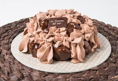 Cioccocrock: luscious profiteroles filled with cream decorated with chocolate semifreddo cover a creamy gelato heart Chantilly. Profiteroles, Chocolate Decorations, Fresh Cream, Gelato, Pastries, Stuffed Mushrooms, Vegetables, Heart, Cake