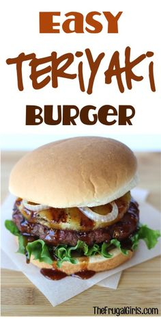 Easy Teriyaki Burger Recipe! ~ from TheFrugalGirls.com ~ this asian infused burger is the Best Ever... bursting with flavor, delicious toppings, and perfect for grilling season! #burgers #recipes #thefrugalgirls