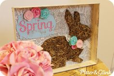 sweet spring shadowbox