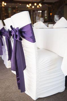 Purple wedding chair / http://www.himisspuff.com/purple-wedding-ideas/9/