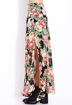 Sweet Rose Maxi Skirt | FOREVER21 - 2000108212