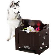 Dog toy box. Seriously considering getting one, it looks so cute!