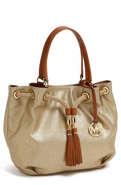 The perfect gold vacation tote | Michael Kors