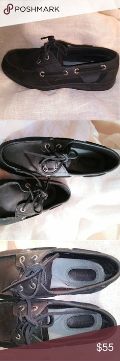Pre owned Sperry shoes 4/5  Sperry Top-Sider Sperry Women's 2-Eye Shoes Black  6M Sperry Shoes