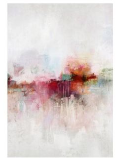 Soft, yet dramatic, this abstract painting has high impact. It's large size combined with it's concentrated colors amidst a quiet neutral and clean white background makes this gorgeous abstract giclee contemporain Brilliant Memories II Abstract Canvas, Abstract Watercolor, Abstract Landscape, Canvas Art, Water Color Abstract, Large Painting, Colorful Paintings Abstract, Acrylic Abstract Painting Techniques, How To Abstract Paint