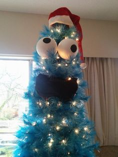 Christmastree cookiemonster   Krümelmonster-Weihnachtsbaum on http://www.drlima.net