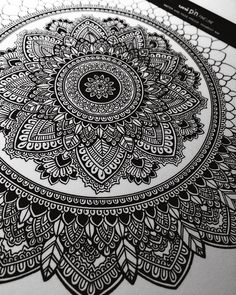 """2,853 Likes, 34 Comments - Asmahan Rose Mosleh اسمهان (@murderandrose) on Instagram: """"Time doesn't love me anymore. ⏳#mandala in process. These mandalas seem to be a big hit to you all!…"""""""