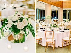 Black and white wedding flowers, high and low centerpieces, white and green wedding flowers www.kellydillonphoto.com49