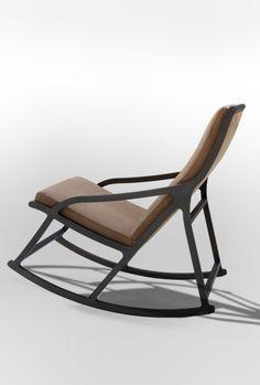 "Rocking chair ""Derive by Pierre Paulin Iron Furniture, Steel Furniture, Design Furniture, Living Furniture, Chair Design, Home Furniture, Kids Recliner Chair, Sofa Chair, Swinging Chair"