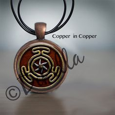 Wheel of Hecate Symbol Pendant in 3 Color Choices with Leather Cord