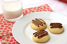 Dulce de Leche and Chocolate Thumbprint Cookies