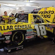 The KBM crew getting the Dollar General Tundra ready for practice and qualifying in Las Vegas