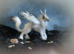 """When Gryphans can fly you're way out too! Ooak Dolls, Art Dolls, Mystical Animals, Fantasy Quotes, Monster, Mythical Creatures, Needle Felting, Sculpting, Unicorn"