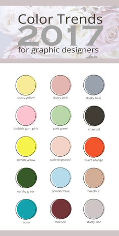 I am just loving the colors trends for 2017! Take a peak and see what's in right now to help you create designs that are relevant and beautiful. I'm also including a monochromatic downloadable color palette for each trendy color! These gorgeous colors can help you with branding your business or blog.