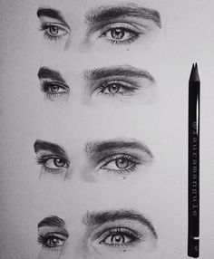 """Spent 3 hours sketching most beautiful eyes  @ivarsbreathemeimers"""