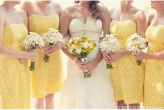 yellow summery bridesmaids dresses | photography by Blue Elephant Photography