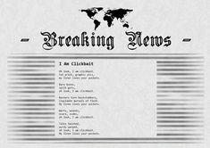 Newspaper Poems - I Am Clickbait ⋆ The Headlines, Newspaper, Poems, Journaling File System, Poetry, Verses, Poem