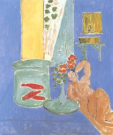 """One of my all time favorite paintings. """"Goldfish With Sculpture"""" by Henri Matisse, 1911. Not sure why I love it so much, but I do!"""