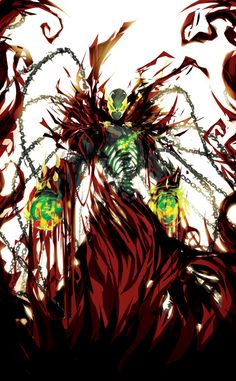 Shattered Spawn Created by Justin Currie Comic Book Characters, Comic Books Art, Comic Art, Spawn Characters, Image Comics, Spawn Comics, Deadpool, Demon Art, Marvel Art