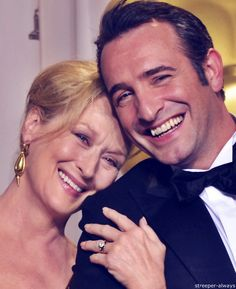With Jean Dujardin at the 2012 Academy Awards