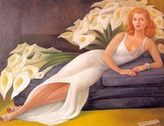 Diego Rivera (Mexican, Portrait of Mrs. Natasha Gelman, Oil on canvas, 45 ¼ x 60 ¼ inches. The Jacques and Natasha Gelman Collection of Century Mexican Art. The Vergel Foundation. (c) 2013 Banco de México Diego Rivera Diego Rivera Art, Diego Rivera Frida Kahlo, Frida E Diego, Martin Munkacsi, Art Gallery, Mexican Artists, Oil Painting Reproductions, Mural Painting, Encaustic Painting